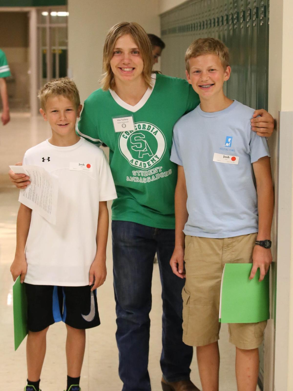 Student Ambassador with New Freshmen